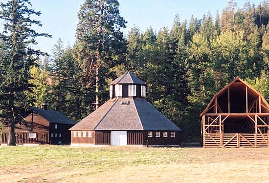Fintry Provincial Park Octagonal barn