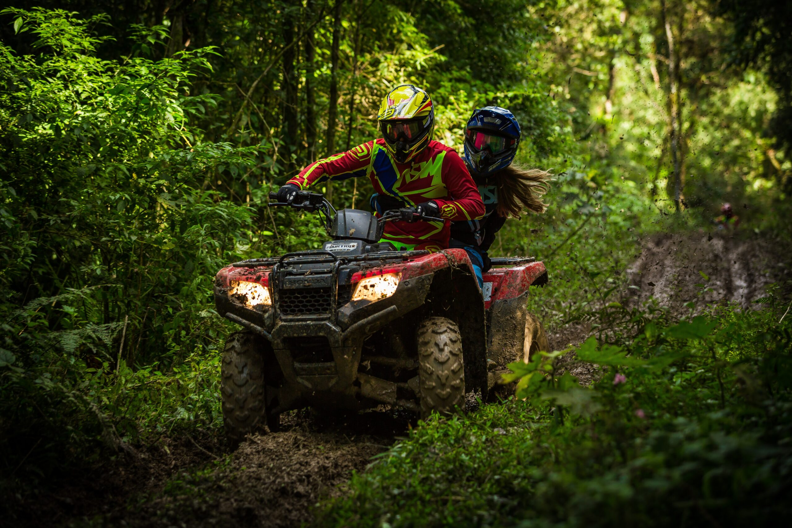 Trail ATV riding