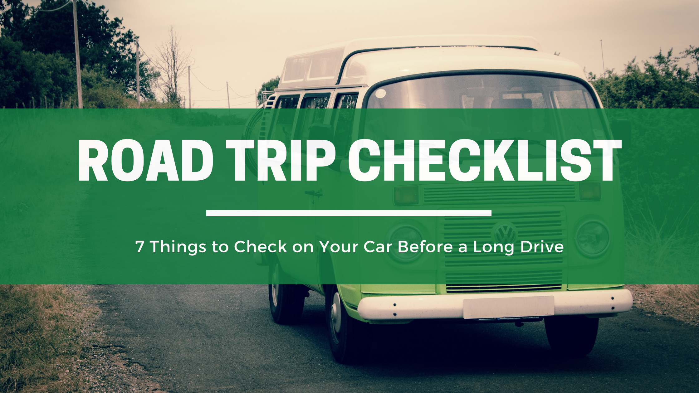 road trip checklist graphic